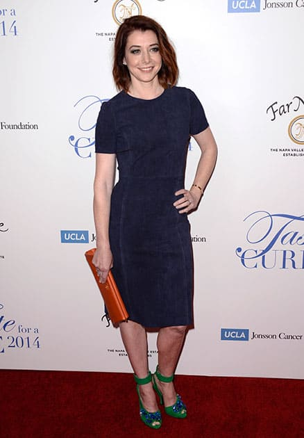 Alyson Hannigan arrives at the 19th annual 'Taste For A Cure' at the Beverly Wilshire Hotel.