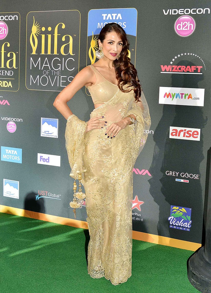 Malaika Arora Khan on the green carpet of IIFA Awards at Tampa Bay in Florida.- Yogen Shah-DNA
