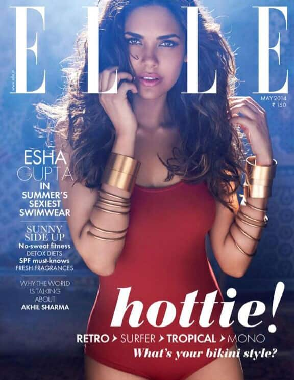 Love my (Esha Gupta) new ELLE INDIA cover for the month of May. Pic Courtesy: Twitter