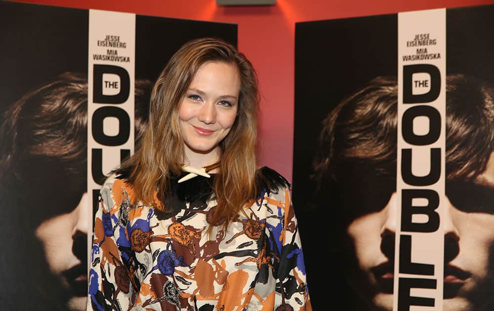 Louisa Krause attends the screening of `The Double` at the Landmark Sunshine Theater in New York.