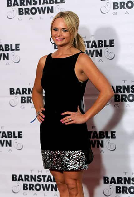 Miranda Lambert arrives at the Barnstable Brown Derby gala, in Louisville, Ky.
