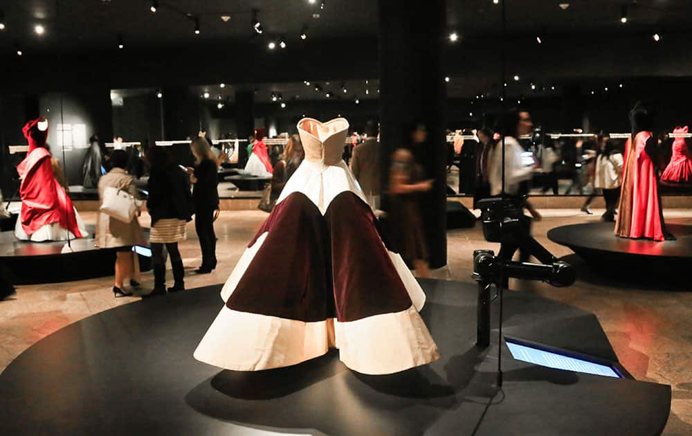 A 1953 clover leaf ball gown is featured in the inaugural exhibition `Charles James: Beyond Fashion,` at the new Anna Wintour Costume Center of the Metropolitan Museum, in New York.