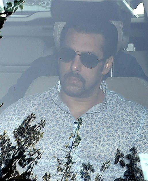 Salman Khan arrives at the Sessions court for a hearing in the hit-and-run case in Mumbai.