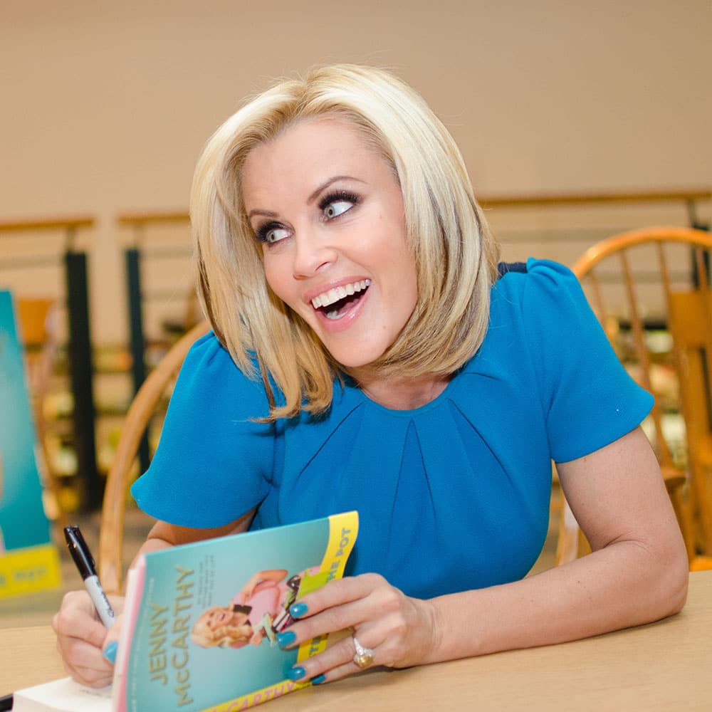 Television personality and actress Jenny McCarthy signs copies of her new book `Stirring the Pot: My Recipe for Getting What You Want Out of Life` at Book Revue in Huntington, New York.