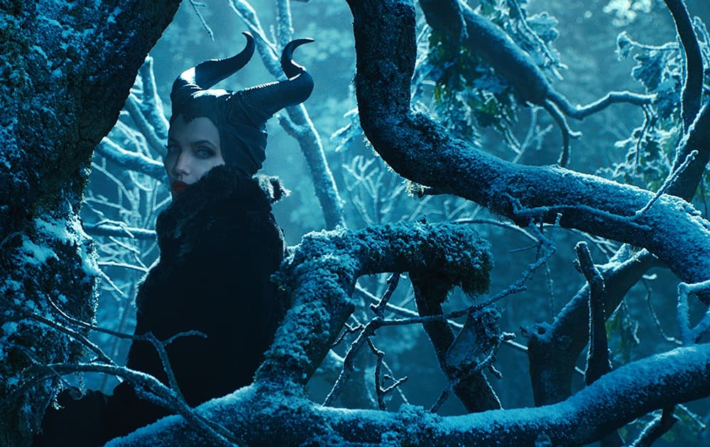 This image released by Disney shows Angelina Jolie in a scene from 'Maleficent,' expected for nationwide release on May 30.