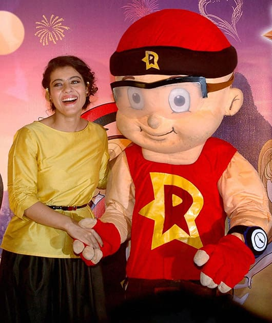 Bollywood actress Kajol at a promotional event in Mumbai.
