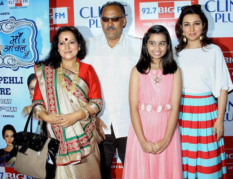 Actors Himani Shivpuri, Alok Nath, Sparsh Khanchandani and Tisca Chopra during the launch of Maa Ke Aanchal Mein - Radio Ki Pehli Picture in Mumbai.