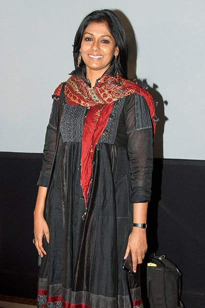 Bollywood actress Nandita Das during the WIFT's 61st National Women achievers award ceremony in Mumbai.