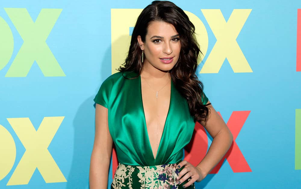 Actress Lea Michele attends the FOX Network 2014 Upfront event in New York.