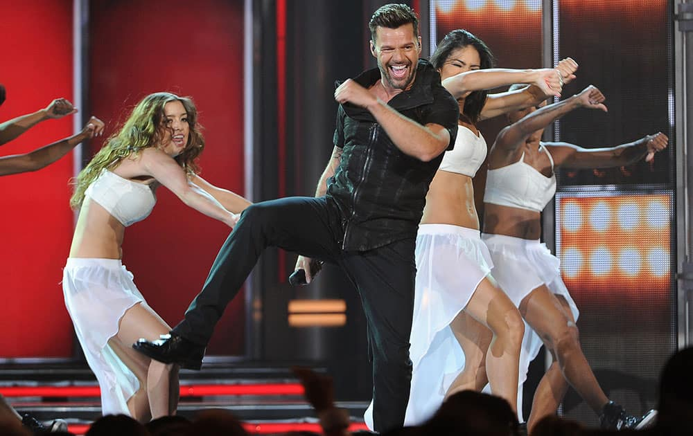 Ricky Martin performs on stage at the Billboard Music Awards at the MGM Grand Garden Arena.