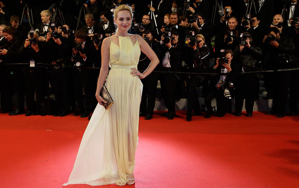 Actress Beatrice Rosen arrives for the screening of Maps to the Stars at the 67th international film festival, Cannes, southern France.