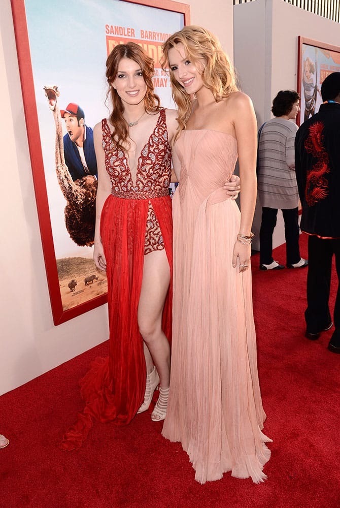 Dani Thorne and Bella Thorne arrive at the LA Premiere of 'Blended' at the TCL Chinese Theatre.