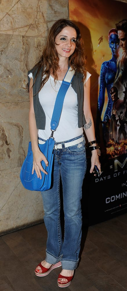 Suzanne Roshan at a special screening of 'X-Men: Days of Future Past' in Bandra.- Rajneesh Londhe.DNA