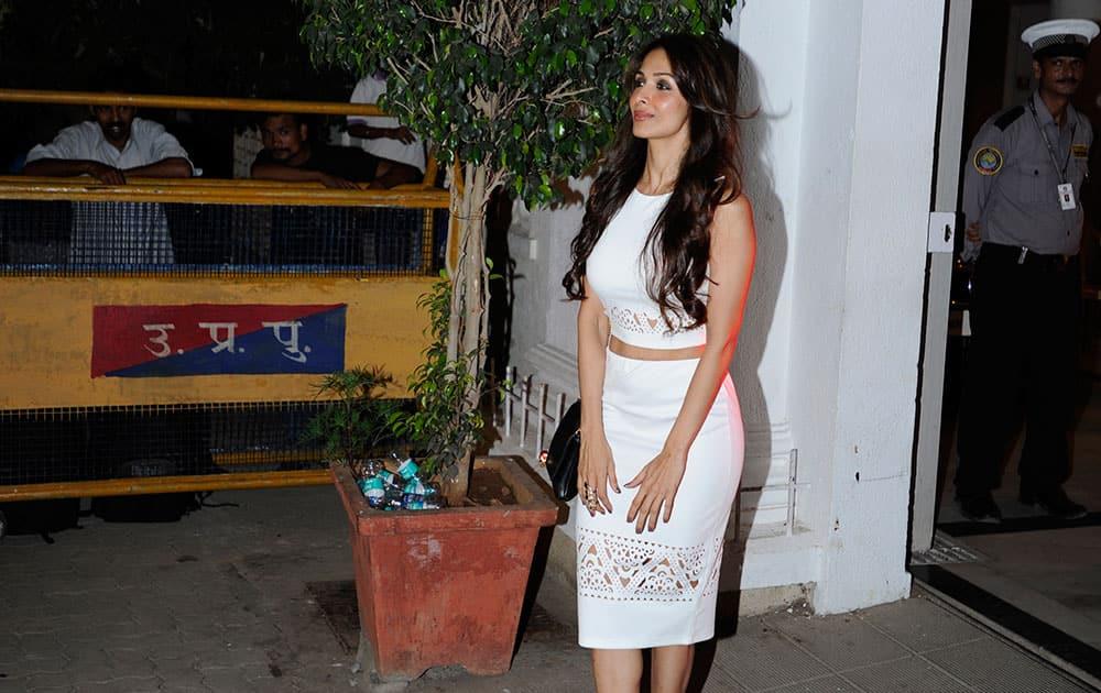 Malaika Arora Khan during filmmaker Karan Johar's birthday party in Mumbai. dna