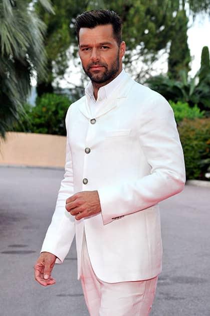 Singer Ricky Martin poses as he arrives for the World Music Awards in Monaco.