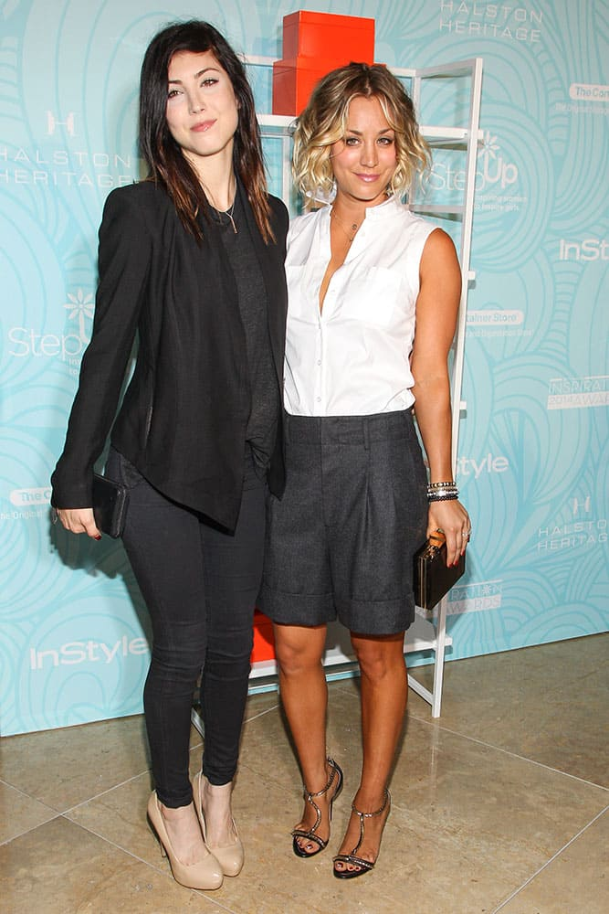 Briana Cuoco and sister Kaley Cuoco attend the 11th Annual Inspiration Awards at the Beverly Hilton, in Beverly Hills, Calif.