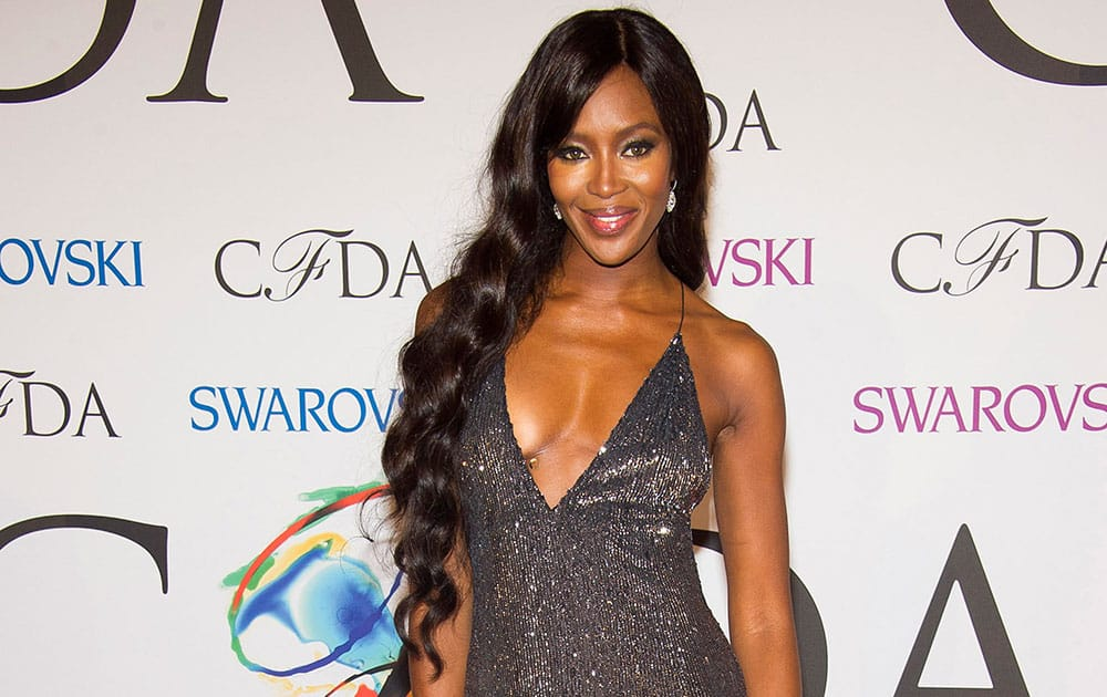 Naomi Campbell attends the CFDA Fashion Awards in New York.