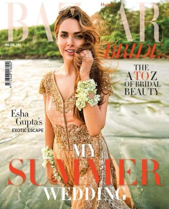 Esha Gupta - Guys chk out my summer cover for @BazaarBrideIn. Thanks @MohitRaich.  Pic Courtesy: Twitter