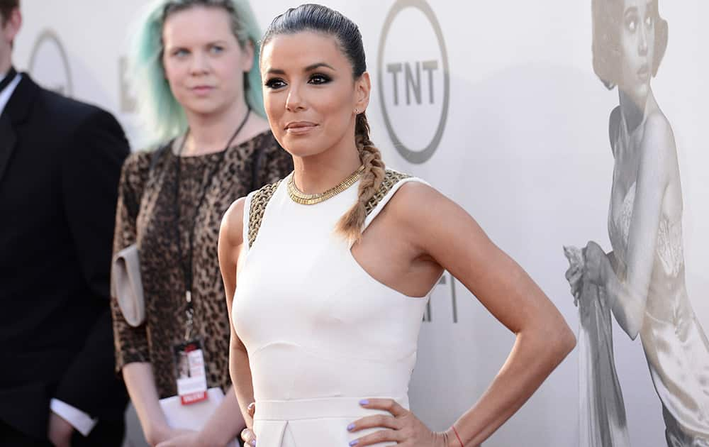 Eva Longoria arrives at the 42nd AFI Lifetime Achievement Award Tribute Gala at the Dolby Theatre in Los Angeles.