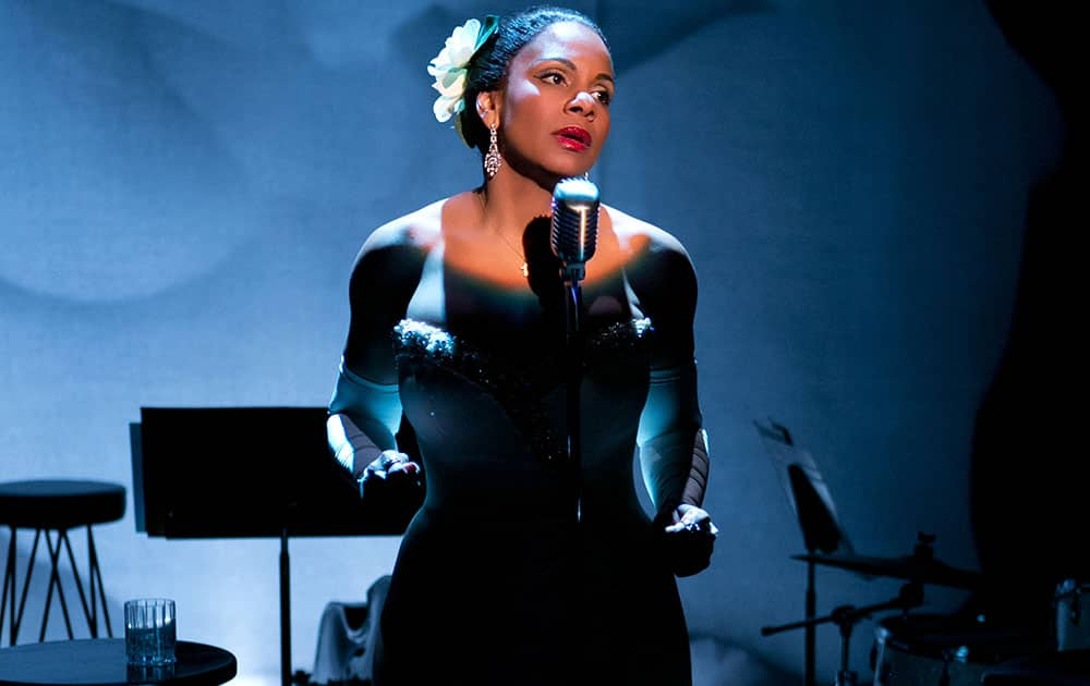 This photo provided by Jeffrey Richards Associates shows Audra McDonald as Billie Holiday in `Lady Day at Emerson's Bar & Grill`.