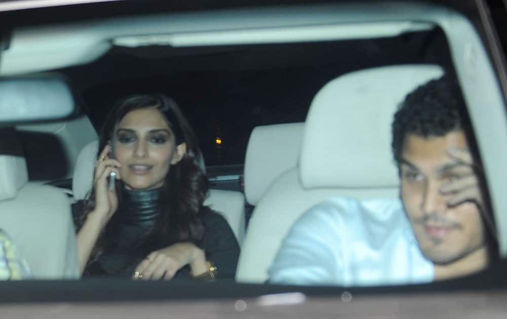 Sonam Kapoor with a friend was spotted at Karan Johar's house in Mumbai. dna
