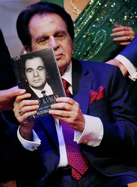 Dilip Kumar during the launch of his biography in Mumbai.