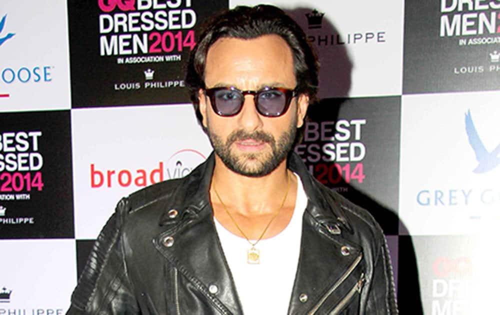 Saif Ali Khan at GQ Best Dressed Men 2014 Awards in Mumbai. dna