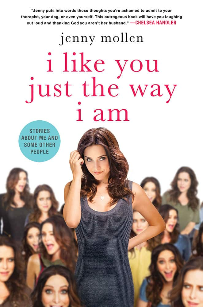 This photo provided by St. Martin's Press shows the cover of author, Jenny Mollen's book, `I Like You Just The Way I Am: Stories About Me and Some Other People.`