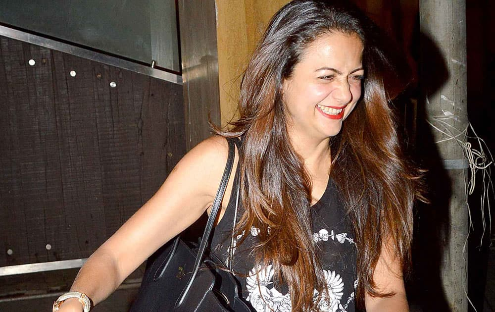 Amrita Arora was spotted at Kareena Kapoor Khan's residence in Bandra. dna