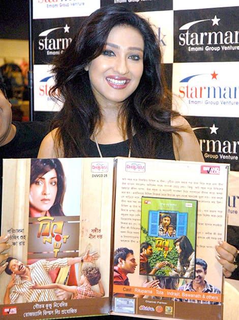 Bollywood actress Rituparna Sengupta launching music CD of her movie 'Biye Not Out' in Kolkata.