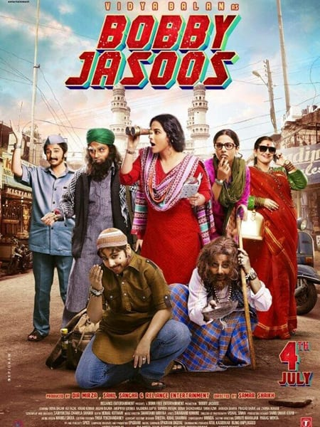 The poster of 'Bobby Jasoos' where lead actress Vidya Balan can be seen donning different avatars.