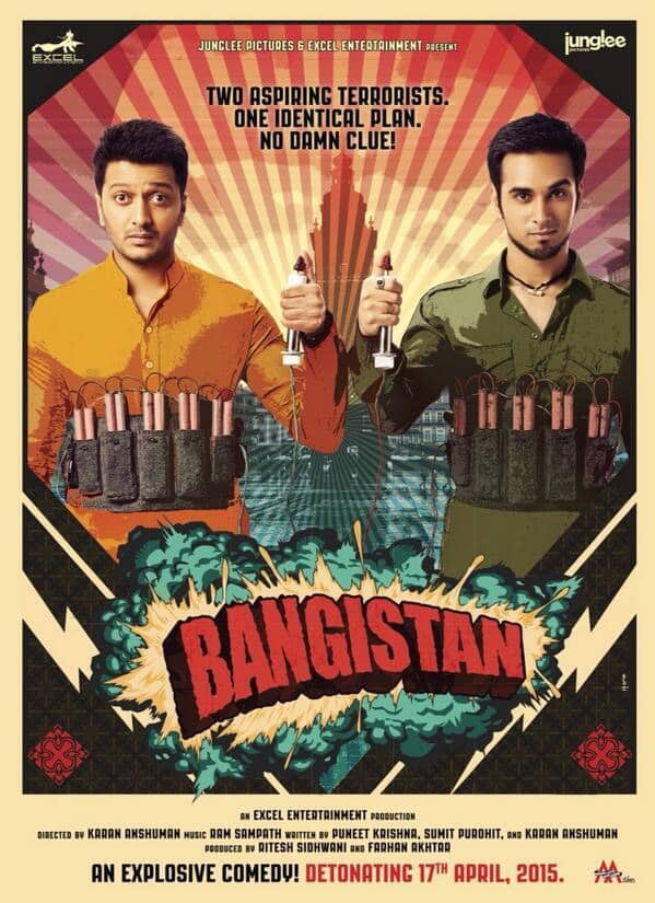 Here's a brand new poster of @Riteishd & @PulkitSamrat's comedy movie 'Bangistaan'