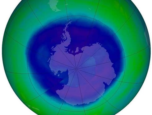 The ozone layer is a layer in Earth`s atmosphere, that has relatively high concentrations of ozone (O3). It is mainly found in the lower portion of the stratosphere, 15-35km above Earth. The ozone layer was first discovered by Professor Gordon Dobson of Oxford University in 1957.  Significance  The ozone layer is very important to humans and other organisms on Earth as it absorbs biologically harmful ultraviolet (UV) radiation coming from the sun. Effects of the ozone layer depletion by human activities on the planet could be disastrous.  While ozone is beneficial in the stratosphere, it is also a pollutant when present near the ground as it contributes to the formation of photochemical smog and acid rain.