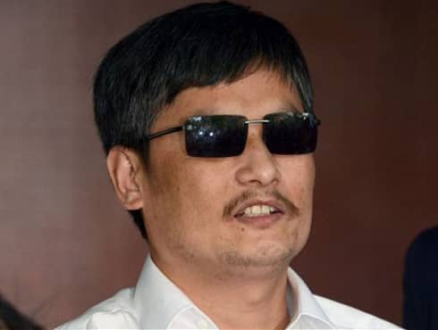 """Blind legal activist Chen Guangcheng was placed under house arrest by the Chinese government , which he escaped in 2012. He took refuge in the US embassy in Beijing which gave him shelter on the basis of """"humanitarian grounds"""". He stayed at the embassy for 13 days and was later flown to US with his family."""