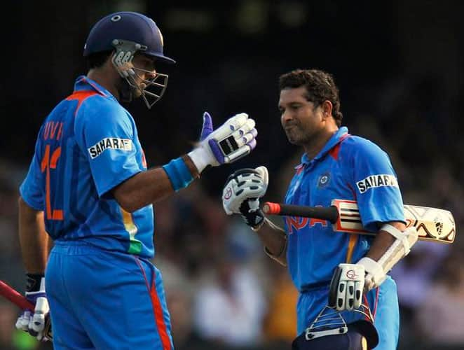 October 26, 2003: India were hosting a triangular series with New Zealand and Australia on home turf.  After losing the wicket of Sehwag for a duck, in-form Tendulkar and VVS Laxman pummeled the Australian bowlers with a 190-run stand for the second wicket. As a result of this massive partnership, India reached a formidable score of 283 runs. In reply, Gilchrist (83) and Hayden (47) got Australia to a good start but they fell short of the target towards the end.Result: India won by 37 runsMan of the Match: Sachin Tendulkar -