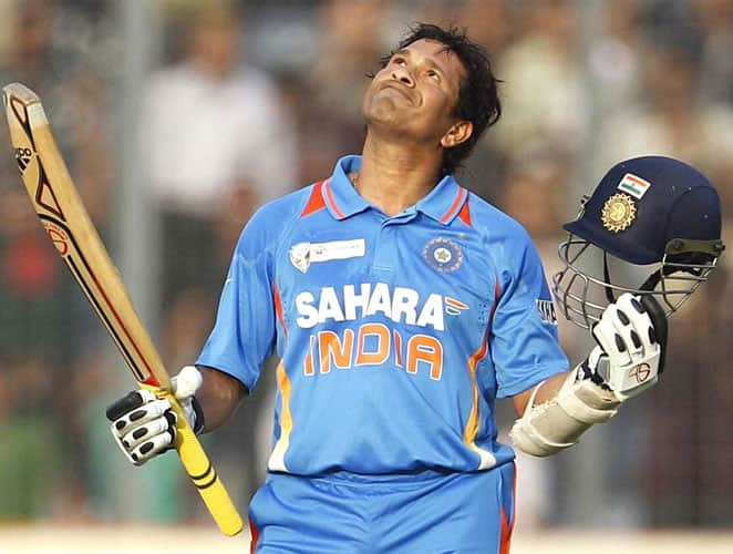 March 16, 2012: It had been more than a year since he had been carrying the burden of not being able to score the much-awaited 100th ton. Tendulkar was included in the eleven man squad for the Asia cup which was criticized by many. Critics said what if Tendulkar flopped in the Asia Cup, instead of reaching the elusive ton? But Sachin on this occasion didn't disappoint his fans and created history by slamming his hundredth ton. India lost the wicket of Gambhir early in the innings after which Tendulkar and Virat Kohli (66) added 148 runs for the second wicket partnership. It was followed by an 86-run partnership between Suresh Raina (51) and Tendulkar. In the 44th over bowled by Shakib Al Hasan, Tendulkar worked the fourth delivery towards square leg for a single to reach the milestone. It wasn't the most fluent innings from Tendulkar as it came off 138 balls. He hit 12 boundaries and a six during his innings. Unfortunately, India lost the match as a result of a quick 64-run partnership between Nasir Hossain (54) and skipper Mushfiqur Rahim (46*) which took the match away from India.Result: Bangladesh won by 5 wickets -