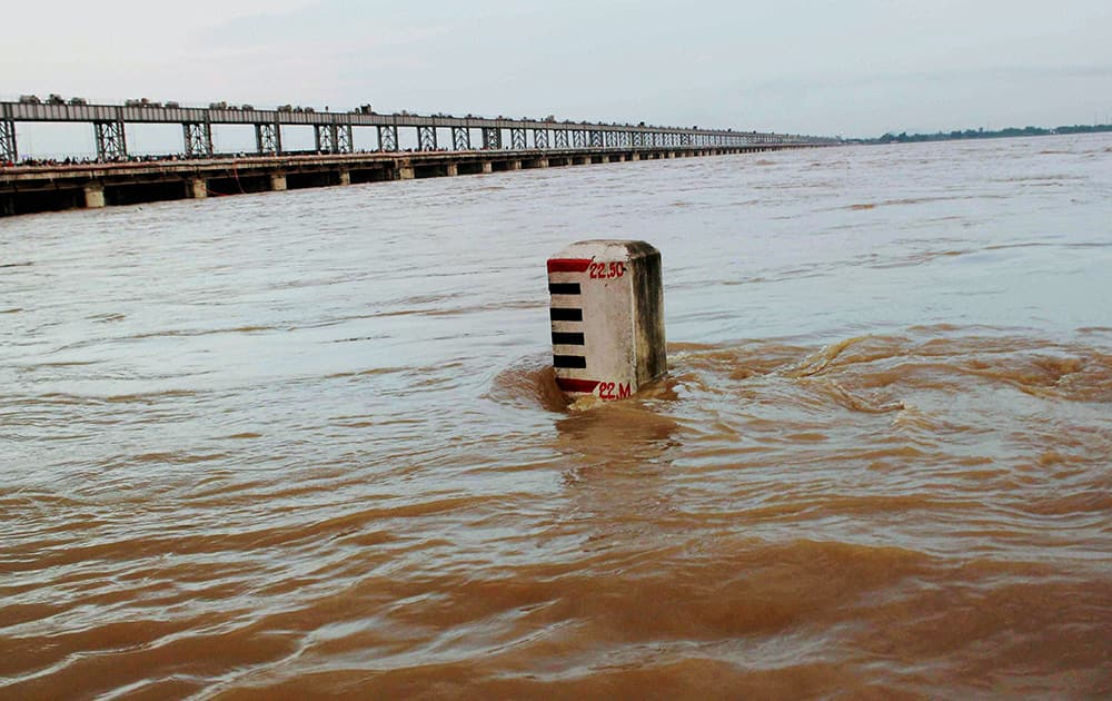 The Mahanadi river flows over the danger mark in Cuttack.