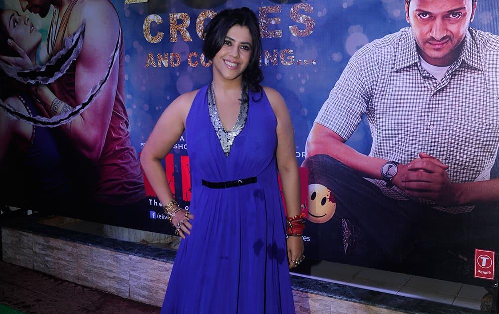 Ektaa Kapoor during the success party of film 'Ek Villain' in Mumbai.- Rajneesh Londhe.dna