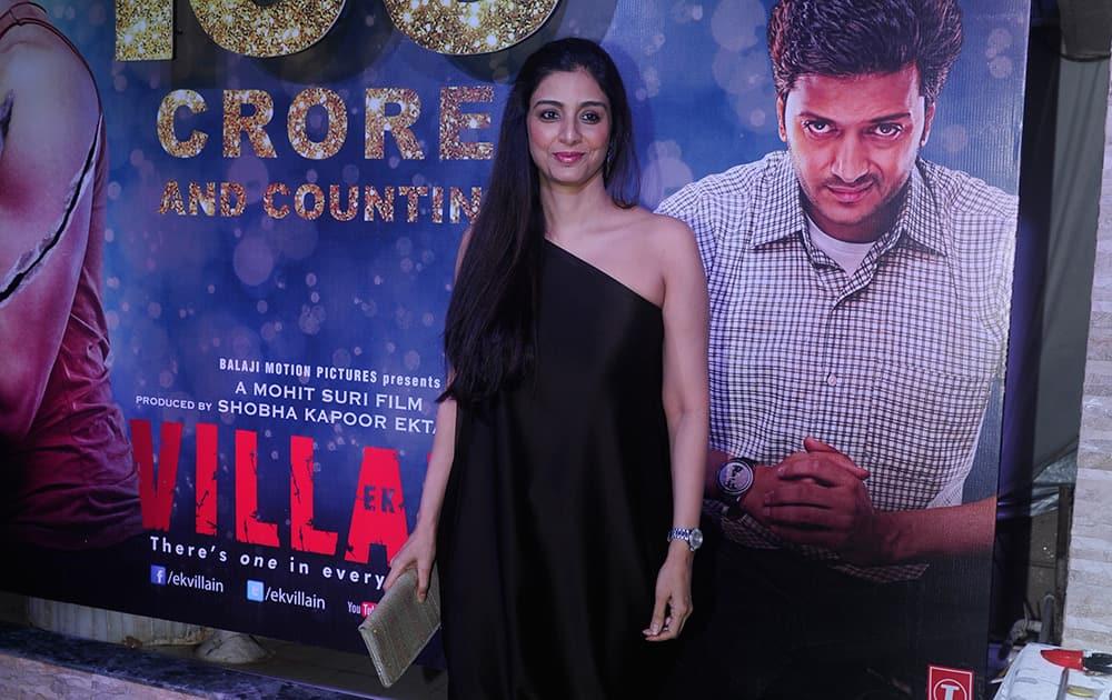 Tabu during the success party of film 'Ek Villain' in Mumbai.- Rajneesh Londhe.dna