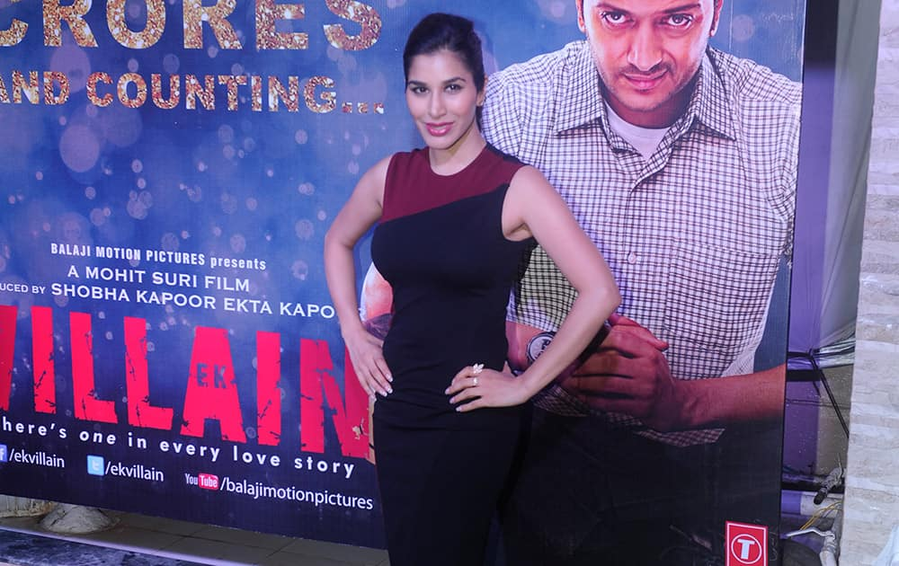 Sophie Chaudhary during the success party of film 'Ek Villain' in Mumbai. dna