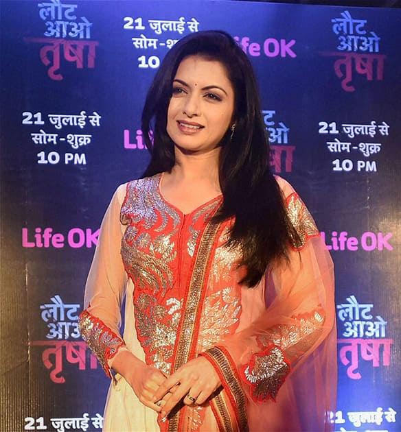 Actress Bhagyashree during a promotional event for her TV show in Lucknow.