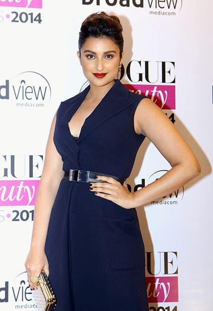 Parineeti Chopra at the Vogue Beauty Awards 2014 in Mumbai.