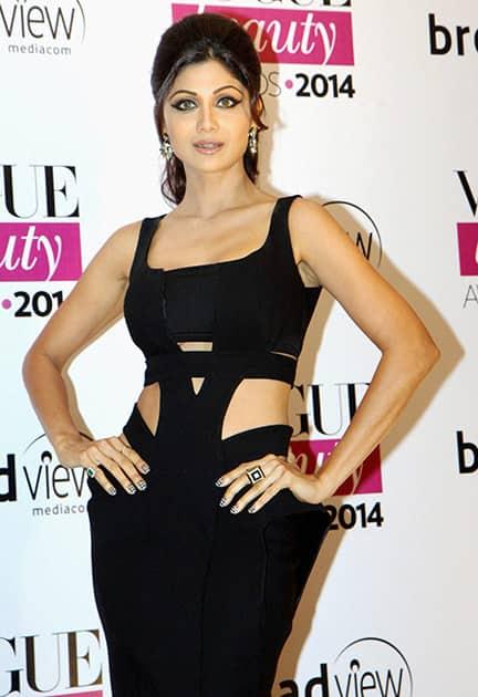 Shilpa Shetty at the Vogue Beauty Awards 2014 in Mumbai.