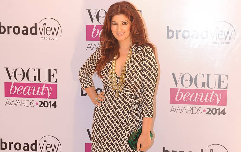 Bollywood actor Twinkle Khanna during the Vogue Beauty Awards 2014 in Mumbai. dna