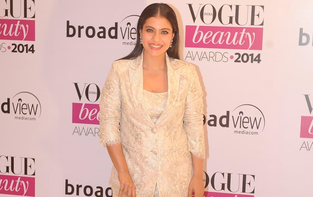 Bollywood actor Kajol during the Vogue Beauty Awards 2014 in Mumbai. dna