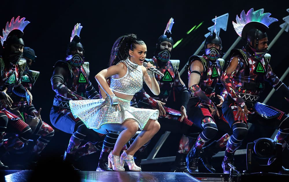 Katy Perry performs in Philadelphia.