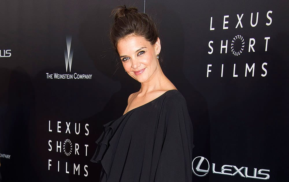 Katie Holmes attends the premiere of Lexus Short Films in New York.