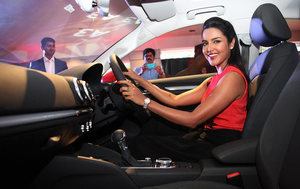 South Indian Actress Priya Anand at the launch of new Audi A3 Sedan in Coimbatore.