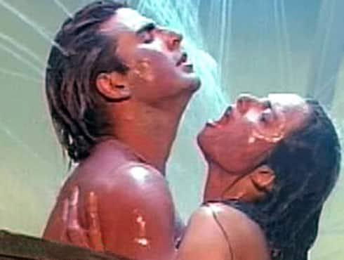 White girl naked in shower
