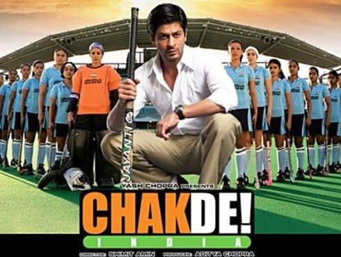 Directed by Shimit Amin  Produced by Aditya Chopra  Star Cast Shahrukh Khan  Year  2007   The film is based on Indian women`s hockey team which had been discouraged and ignored by everyone. Team`s coach Kabir Khan (Shahrukh Khan) finds himself in charge of a group of 16 young women from various sections of India, who are divided by their own competitive natures and individual prejudices. While working to overcome their differences, the girls eventually learn to act as a single unit, leading them to win the Championship.  - Spice Team